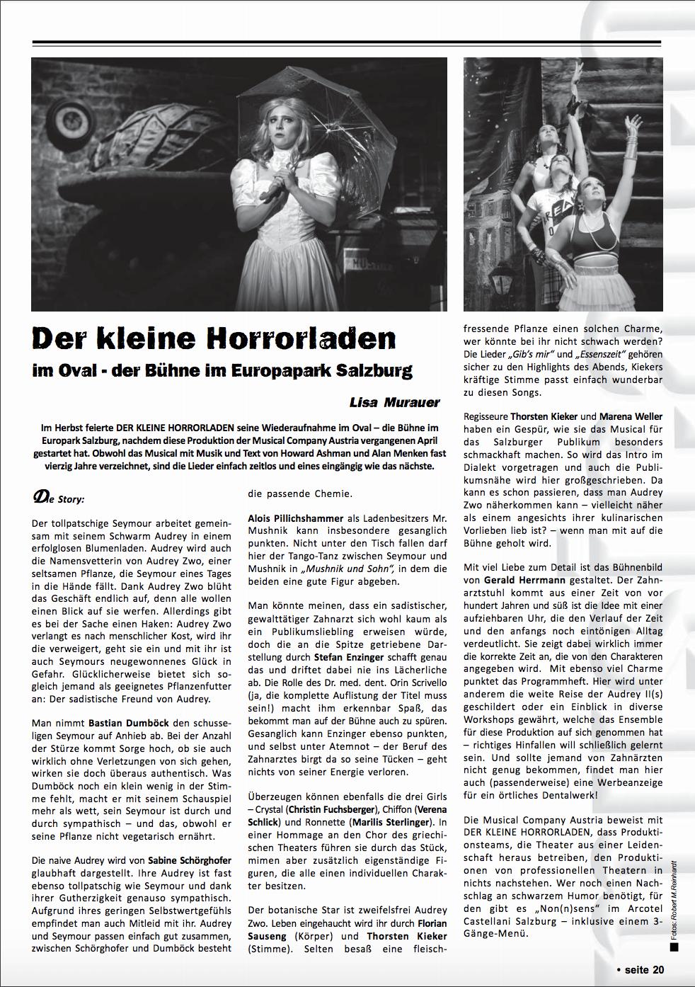 Der Kleine Horrorladen Musicalcocktail Kritik 2018